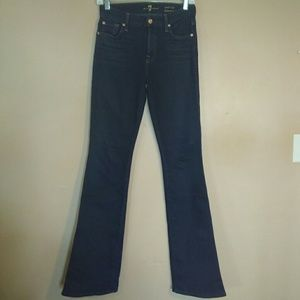 7FAM 27 Dark Wash Mid Rise Kimmie Bootcut Jeans